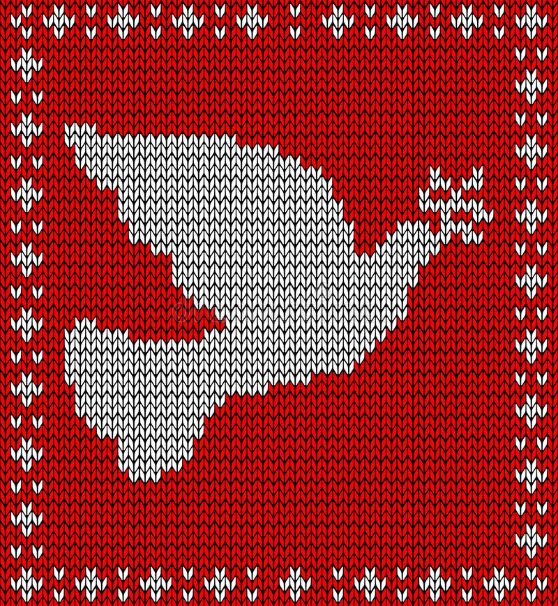 Download Christmas Knitting Dove Pattern Stock Vector - Image: 27907120