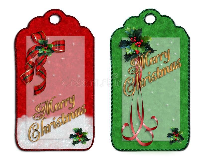 Christmas labels vector illustration