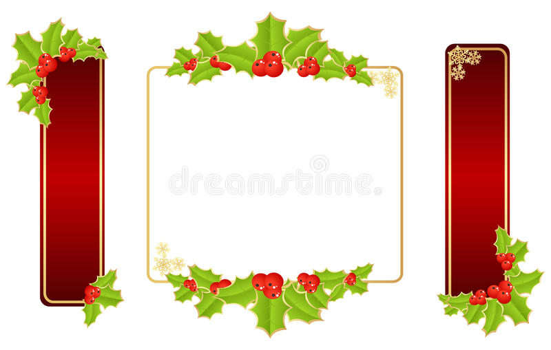 snowflakes frame on red backgournd stock vector