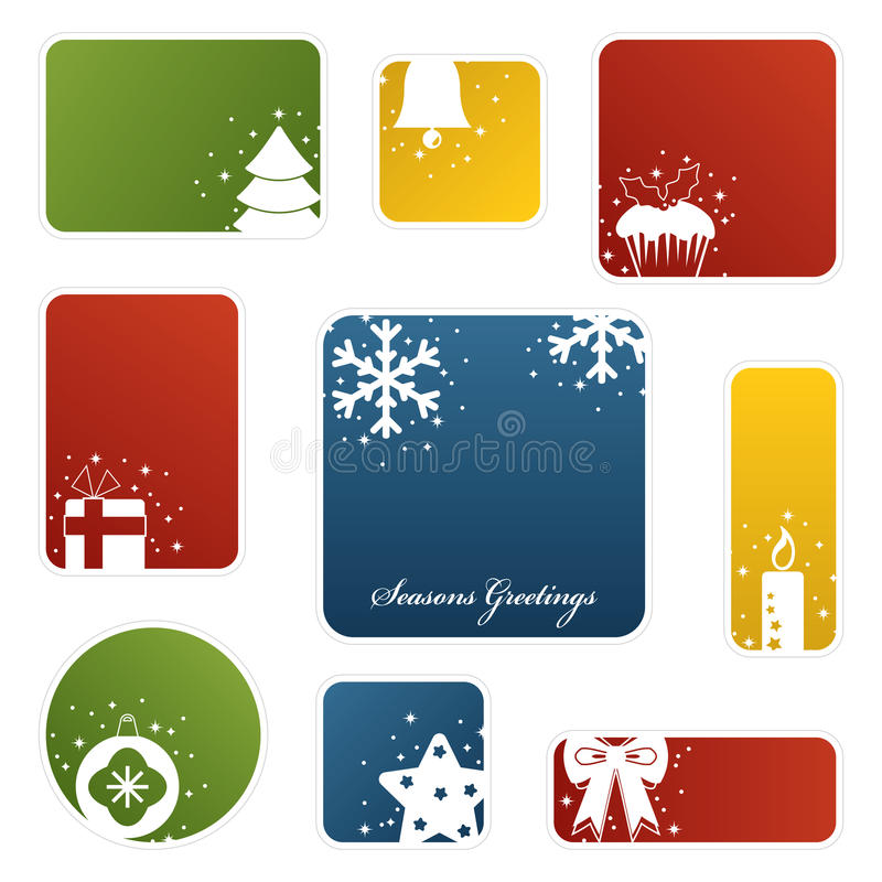 Christmas labels stock illustration