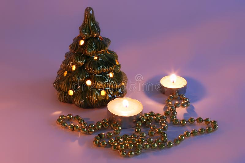 Christmas lamp on a white background. stock photos