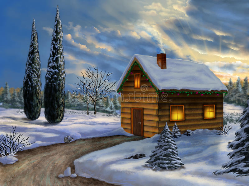 Download Christmas Landscape Royalty Free Stock Photos - Image: 27486828