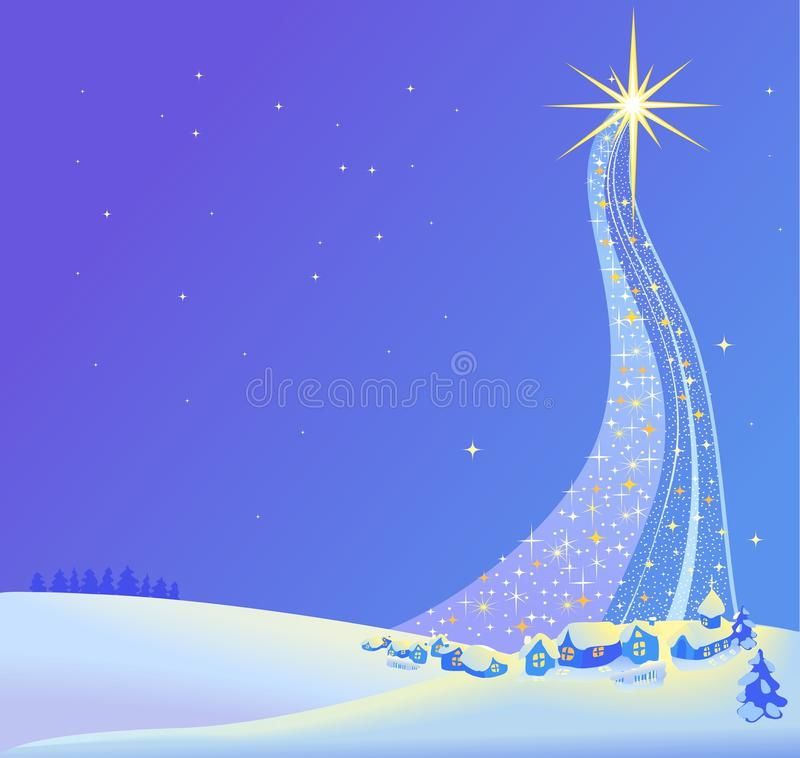 Free Christmas Landscape Illustration Of The Star Royalty Free Stock Image - 46468006