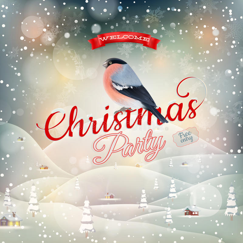 Christmas landscape Poster. EPS 10 royalty free illustration