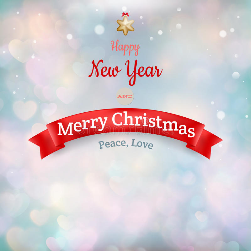 Christmas landscape Poster. EPS 10. Vector file included vector illustration