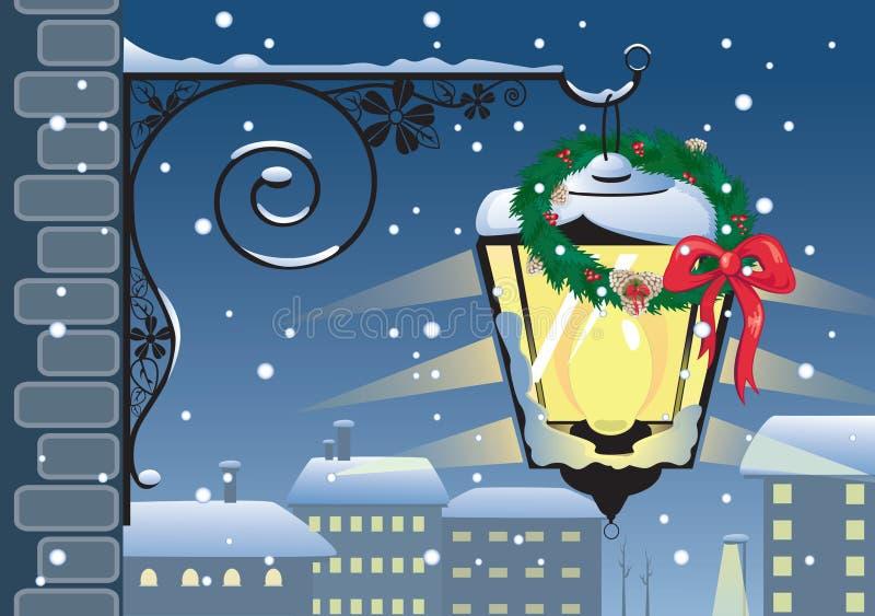 Download Christmas lantern stock vector. Image of holiday, street - 15884189