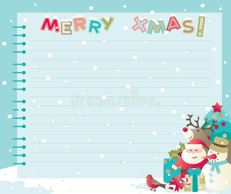 Christmas Letter With Copy Space Stock Vector