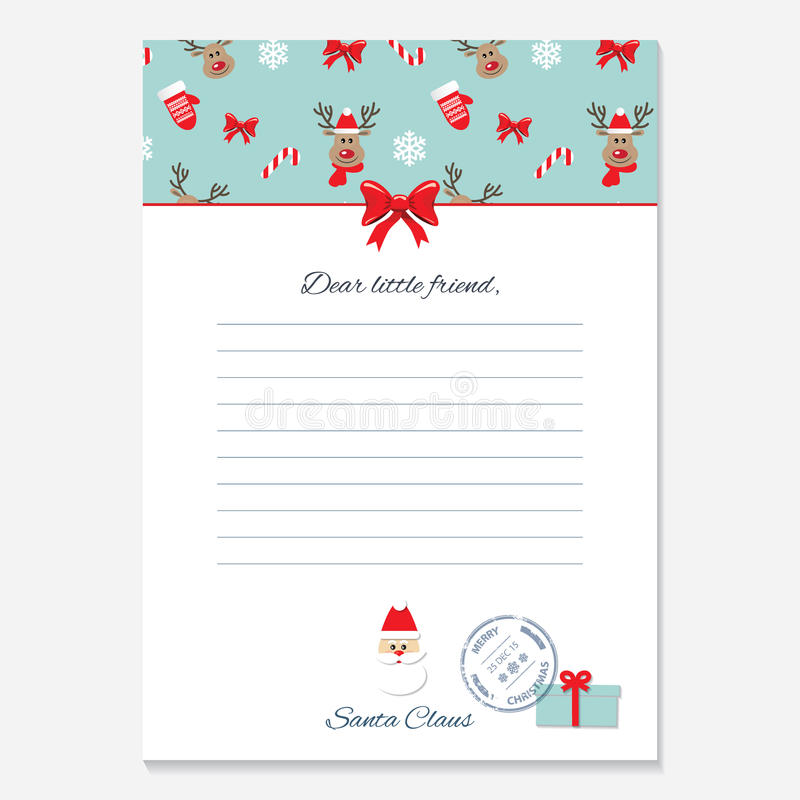 Christmas letter from santa claus template stock illustration download christmas letter from santa claus template stock illustration illustration of holidays decorative spiritdancerdesigns Images