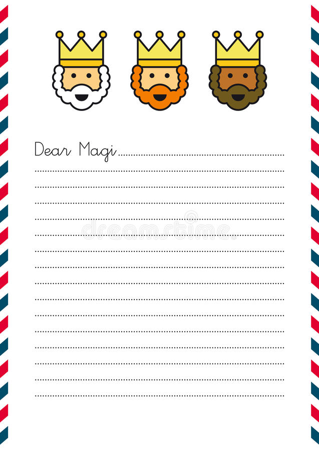 Christmas Letter to Magi royalty free illustration