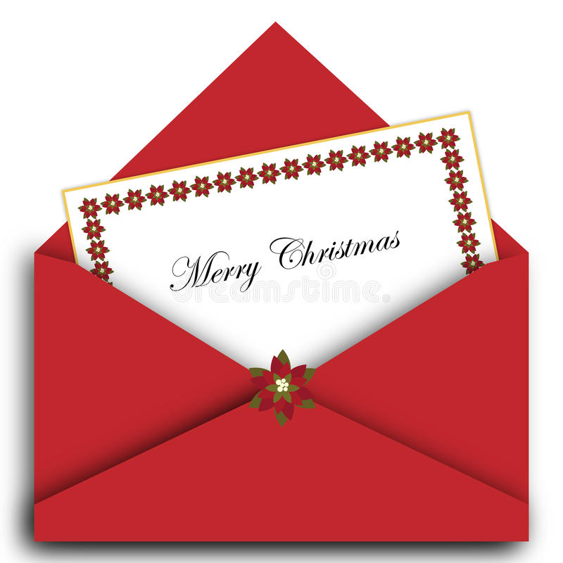 Free Christmas Letter With Envelope Royalty Free Stock Photos - 17068878