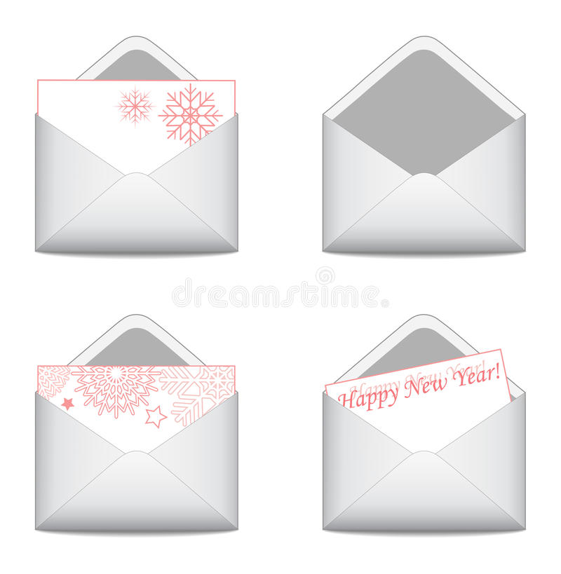 Christmas letters vector illustration