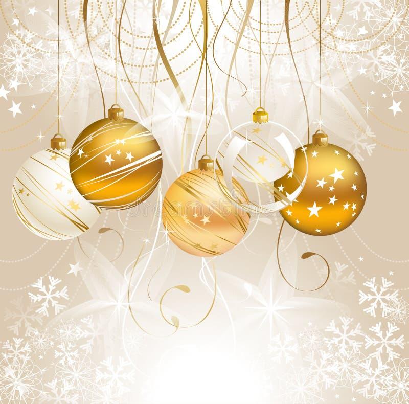 Christmas light background royalty free illustration
