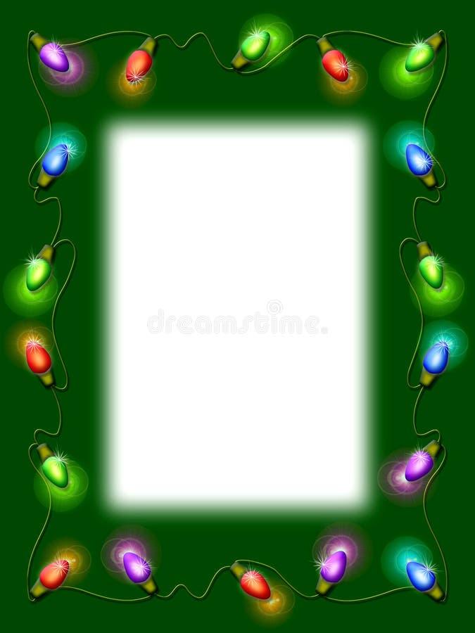 Christmas Light Border. A frame of holiday lights stock illustration