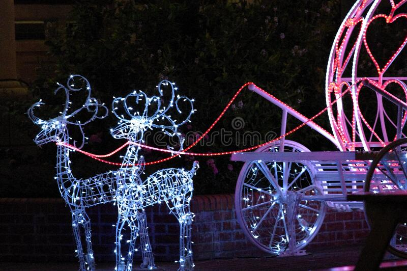 Christmas light decorations royalty free stock photography