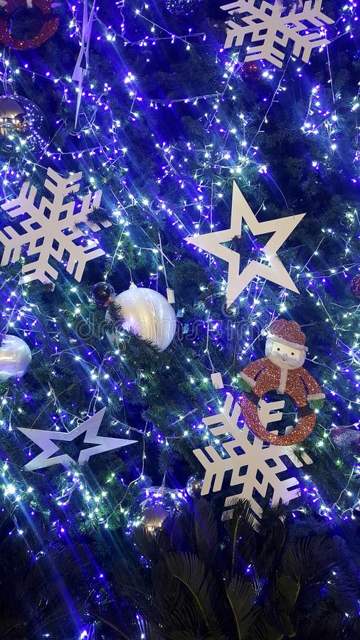 christmas light is very nice and happy time royalty free stock photos
