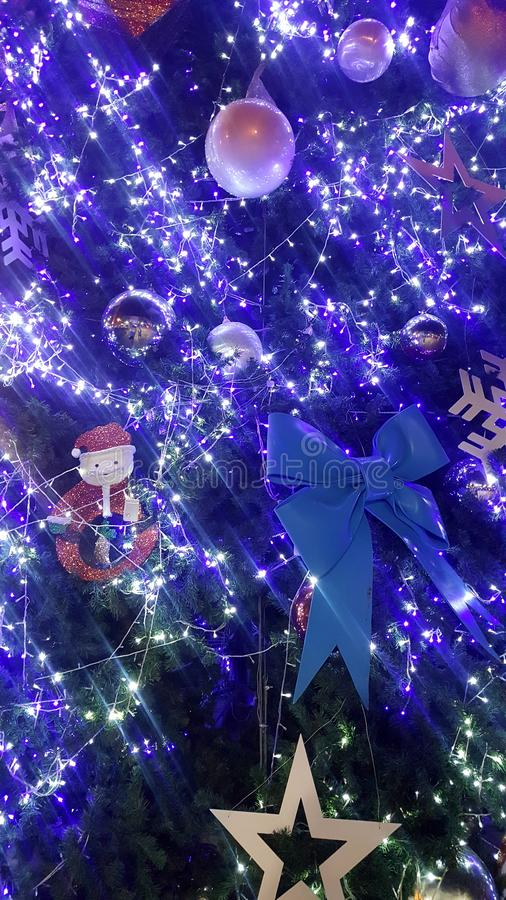 christmas light is very nice and happy time stock photos