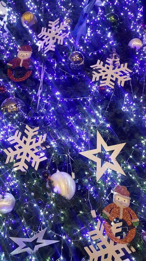 christmas light is very nice and happy time royalty free stock images