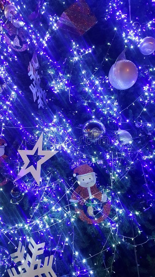 christmas light is very nice and happy time royalty free stock photo