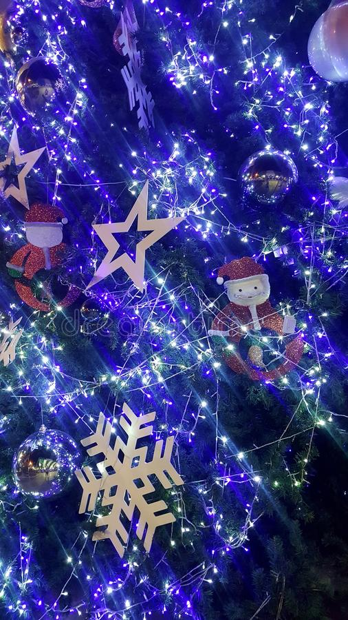 christmas light is very nice and happy time stock photo