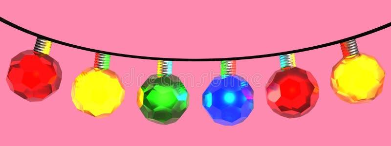 Christmas lights royalty free illustration
