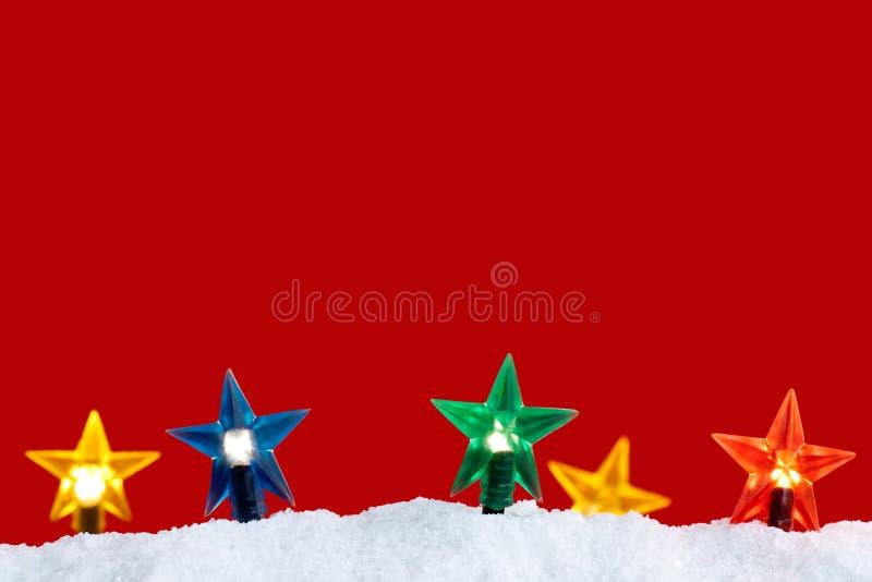 Download Christmas lights stock image. Image of star, snow, winter - 21911945
