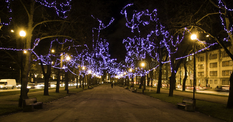 Download Christmas Lights In Tallinn, Estonia Stock Image - Image: 3856671