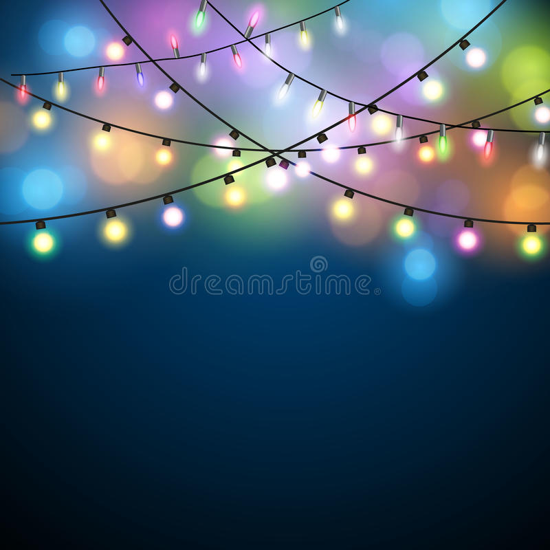 Christmas Lights Background. stock photo