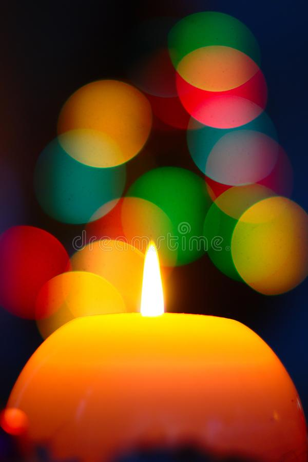 Christmas Lights Background royalty free stock photo