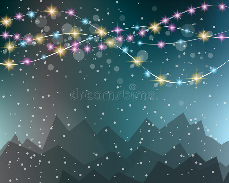 Christmas Lights Background for your seasonal wallpapers, vector illustration