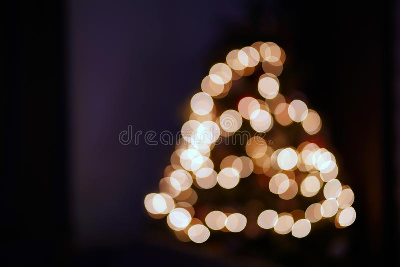 Christmas Lights on Christmas Tree Blurred stock photos