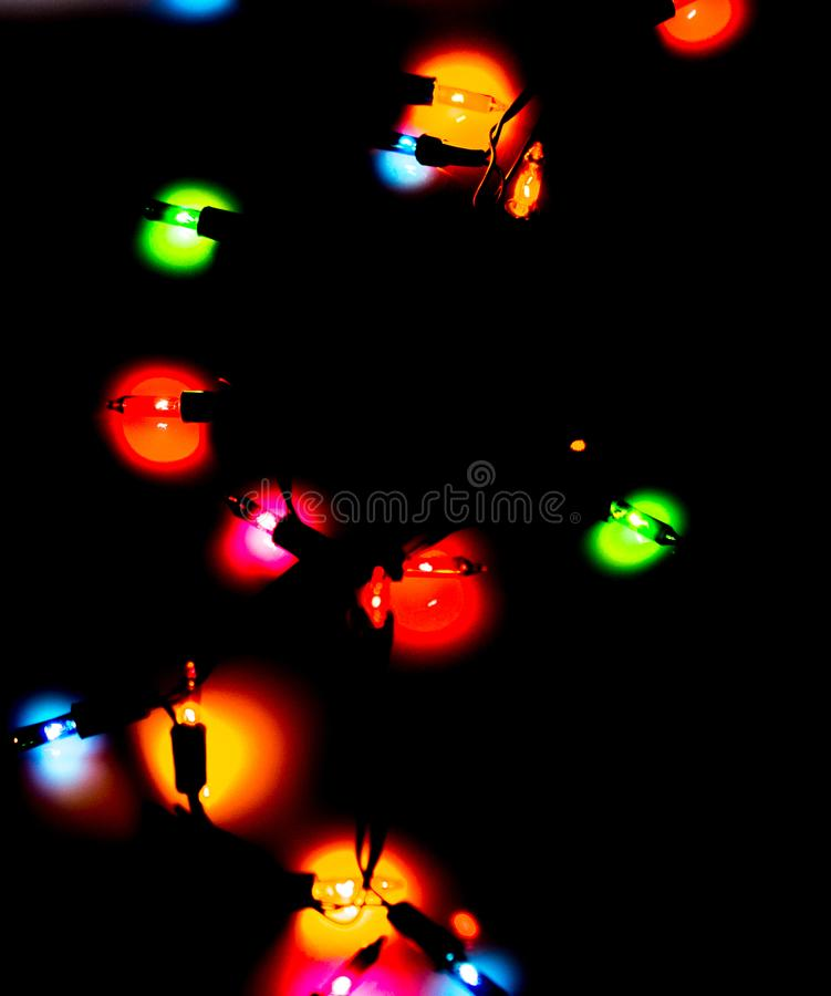 Christmas Lights. Of various color royalty free stock photo