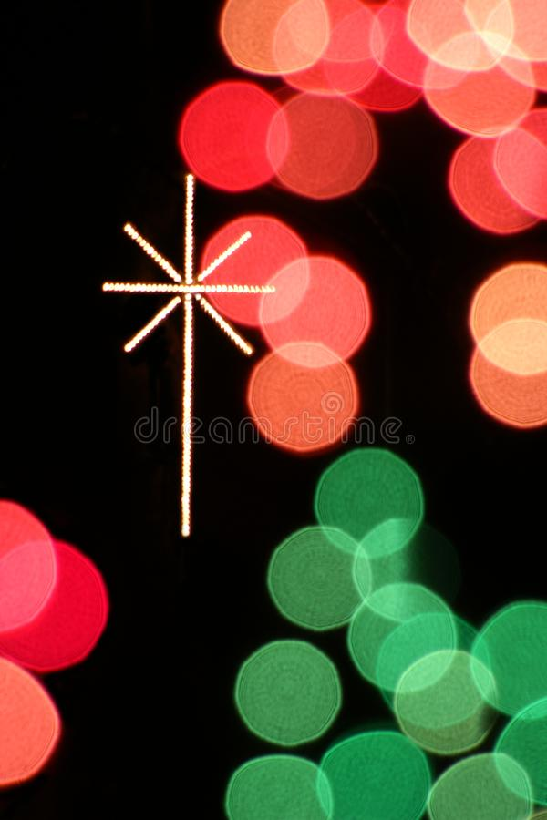 Christmas Lights Cross royalty free stock photos