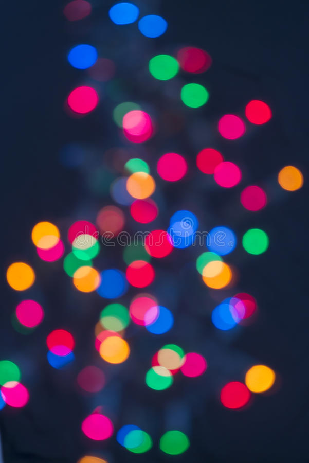 Download Christmas Lights In Distance Stock Photo - Image: 27260866