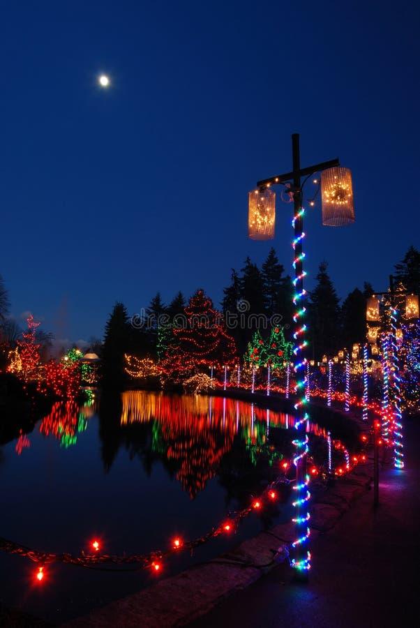 Christmas lights festival stock photo
