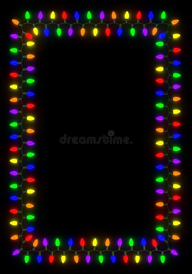Download Christmas Lights Frame stock illustration. Illustration of colorful - 14394931