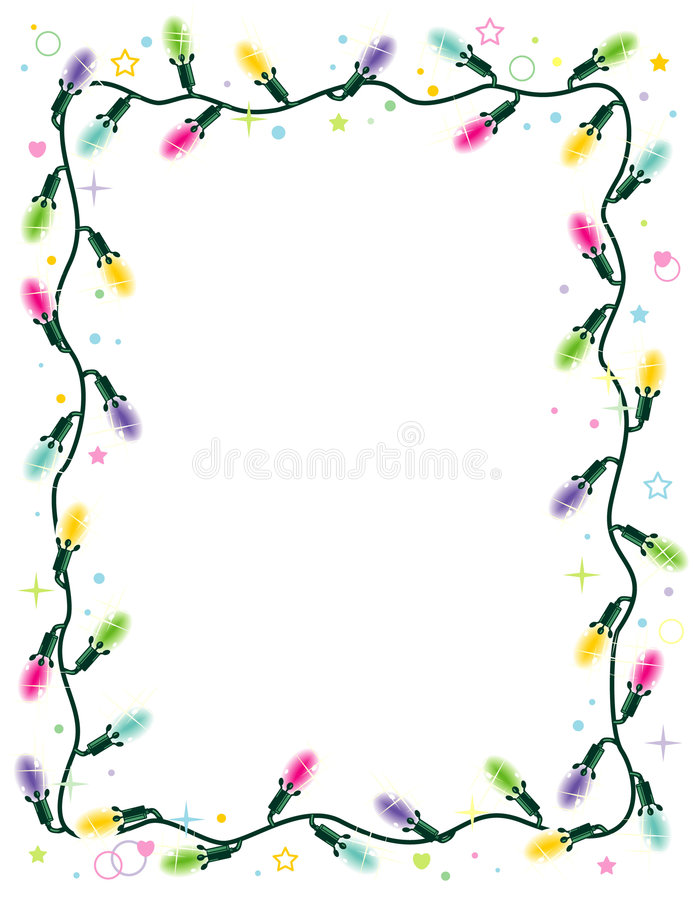 Download Christmas Lights Frame, Vertical Stock Vector - Image: 6825709