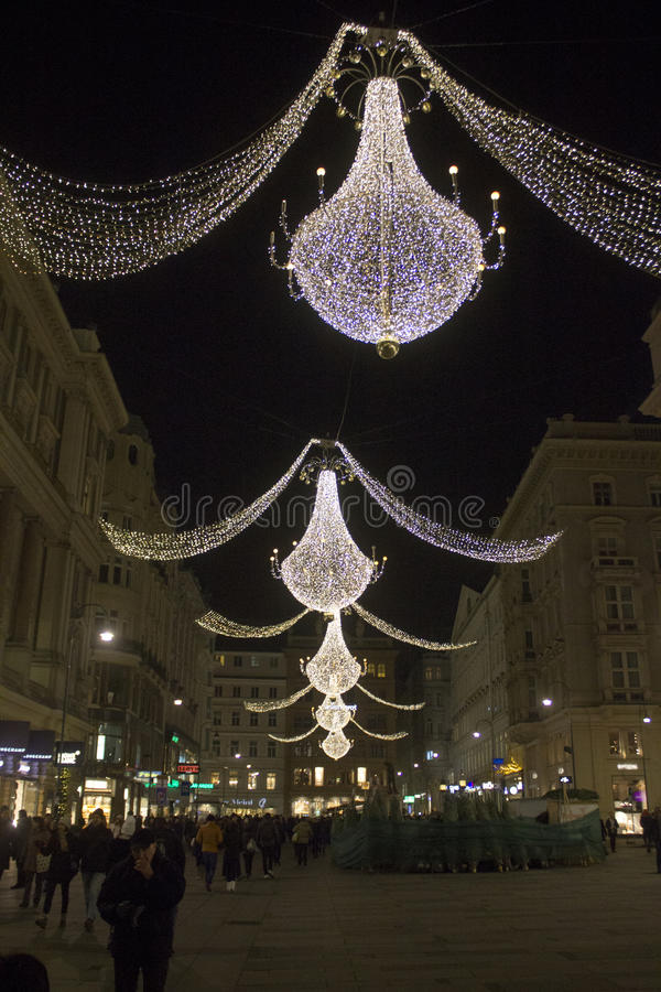 Download Christmas Lights In Graben, Vienna Stock Image   Image Of Inner,  Year:
