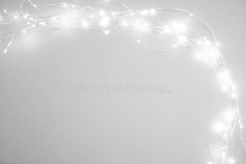 Christmas lights isolated on white background stock photo