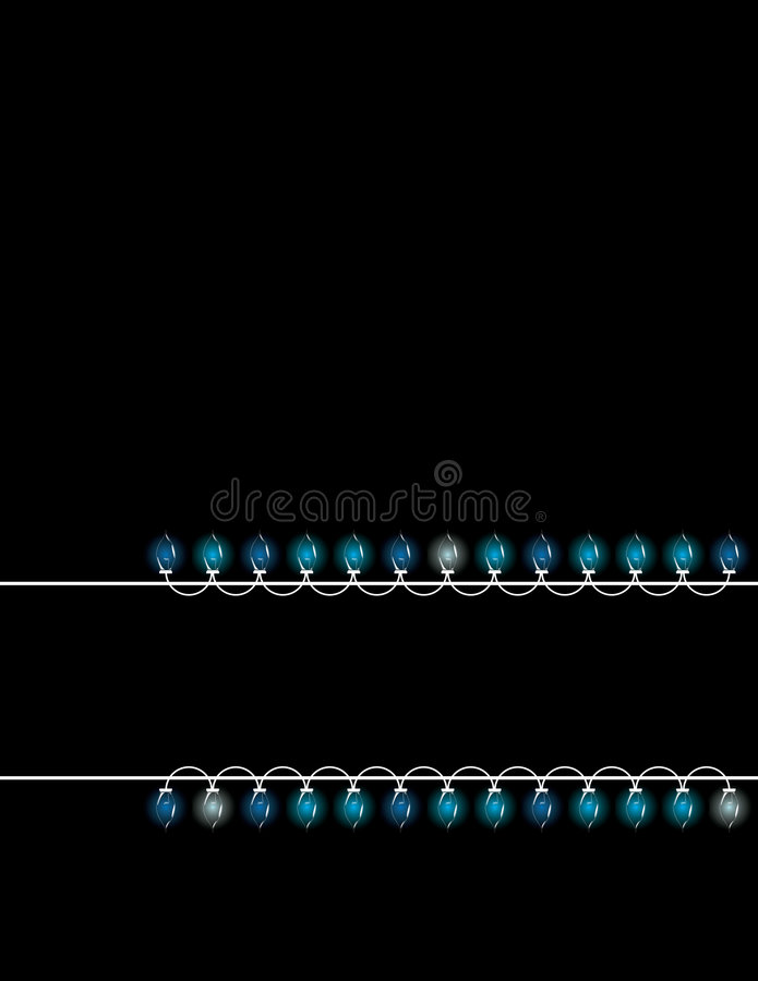 Christmas lights lower banner vector illustration