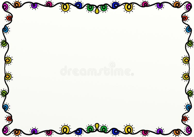 Christmas Lights Page Border Decoration stock illustration
