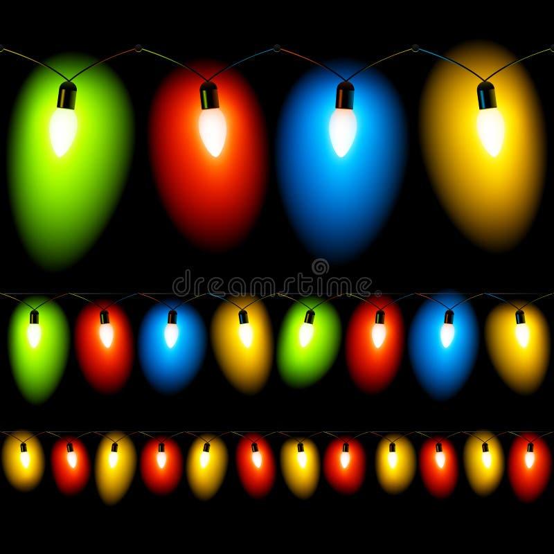 Download Christmas Lights. Seamless Illustration. Stock Vector - Illustration: 12175695