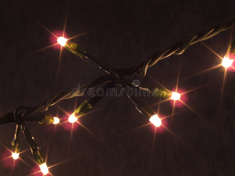 Christmas Lights Strand royalty free stock photo