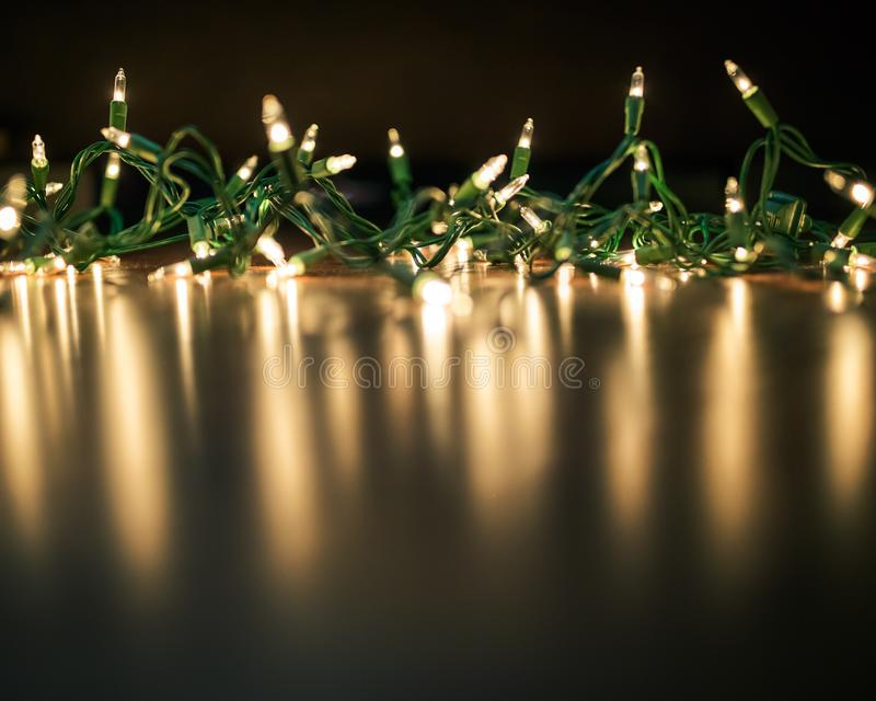 Christmas lights string royalty free stock photography