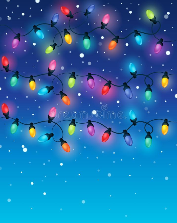 Free Christmas Lights Theme Image 2 Royalty Free Stock Image - 61743536