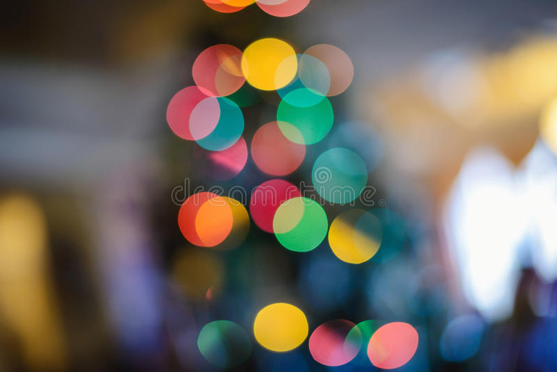 Christmas lights. Christmas tree colorful glowing lights royalty free stock images