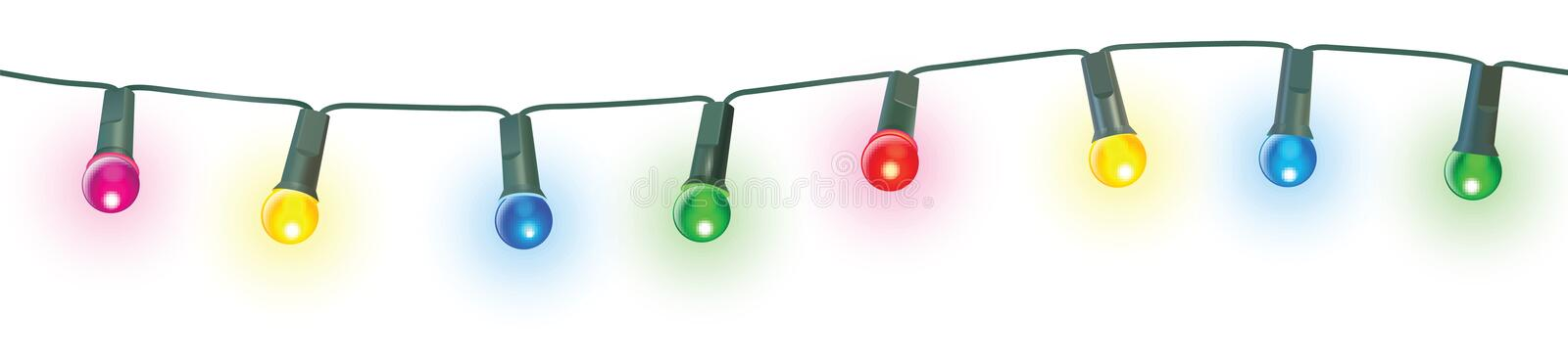 Christmas lights. Seamless christmas lights vector illustration royalty free illustration