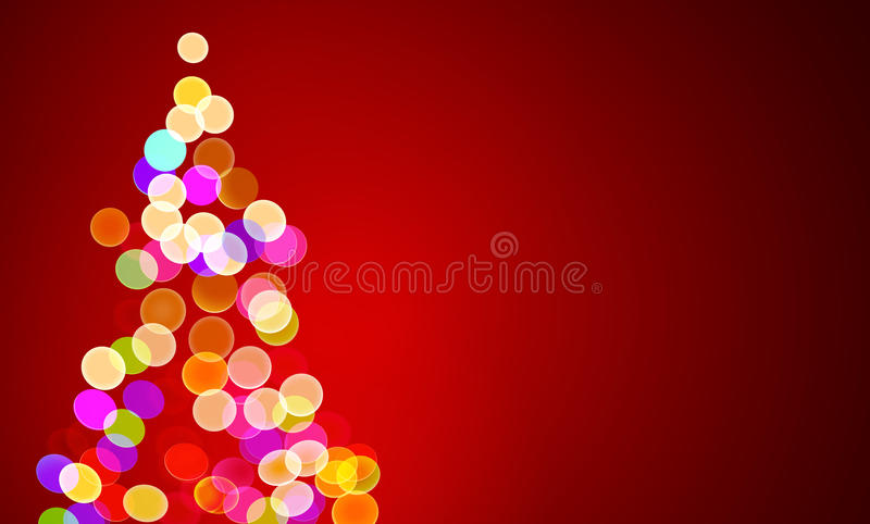 Christmas lights on tree, out of focus. Vector illustration of christmas lights on tree, out of focus with copy space stock illustration
