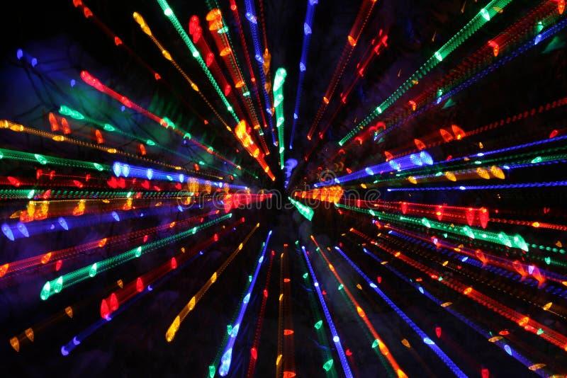 christmas lights zoomed στοκ φωτογραφία με δικαίωμα ελεύθερης χρήσης