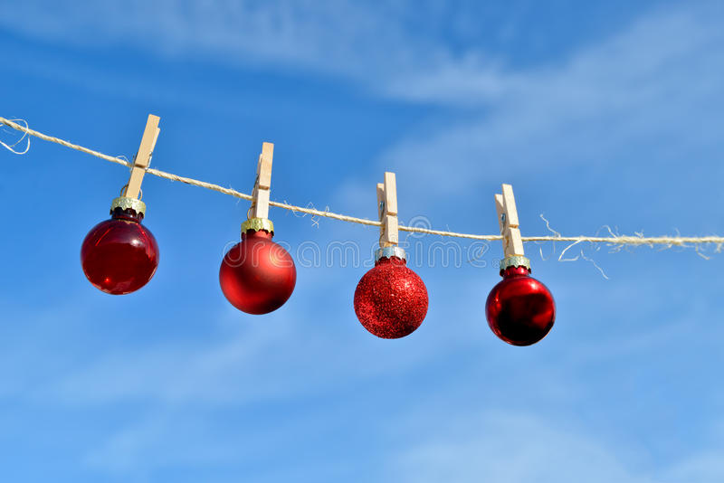 Download Christmas On Line - Christmas Baubles Stock Images - Image: 34808144