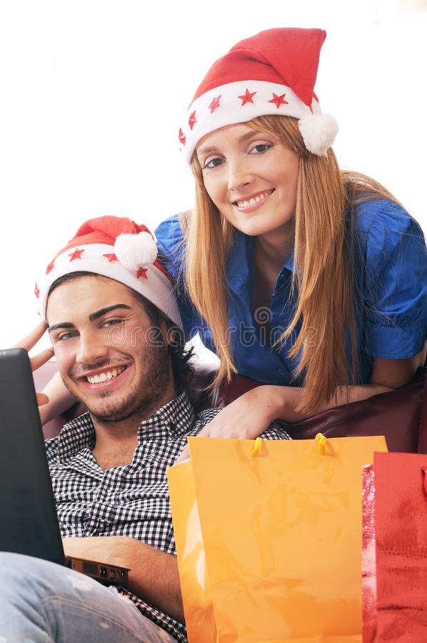 Download Christmas on-line shopping stock photo. Image of personal - 8206016